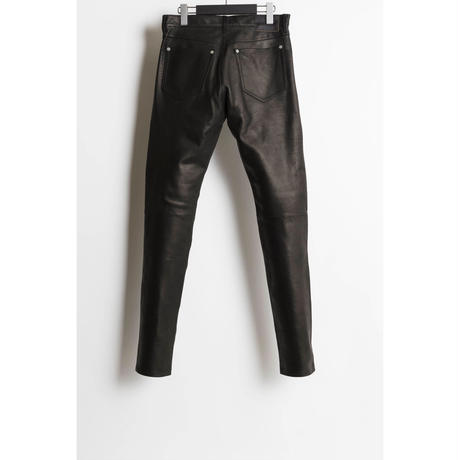 The Letters : 5POCKET LEATHER PANTS - CALF SKIN -