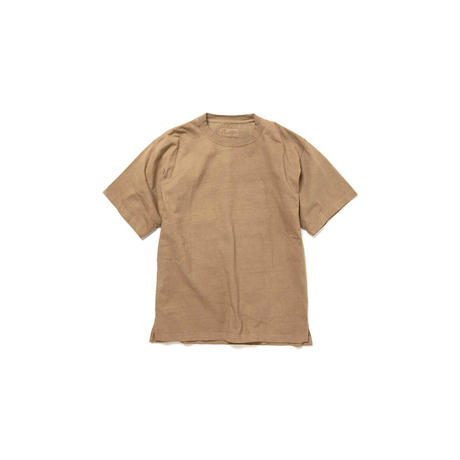 hobo : COTTON HEAVY WEIGHT JERSEY COFFEE DYED CREW NECK TEE