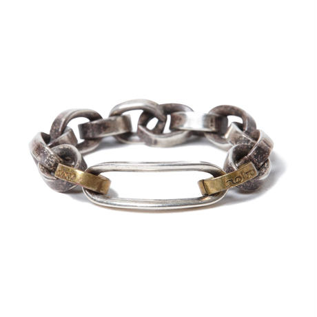 hobo : 925 Silver Chain Ring with Brass