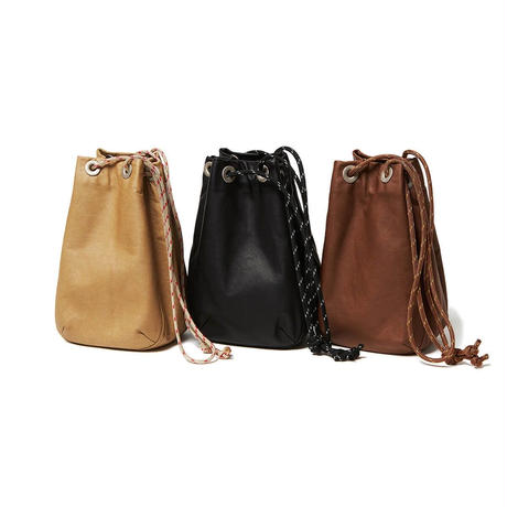 hobo : Waterproof Leather Drawstring Bag Small