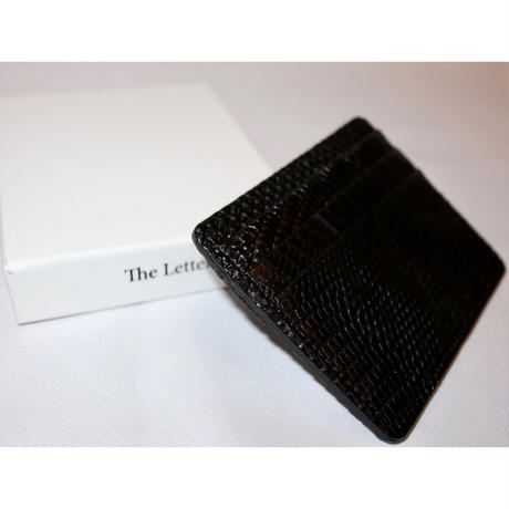 The Letters : Card Case - LIZARD -
