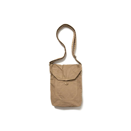 hobo : COTTON TWILL CHARCOAL DYED SHOULDER BAG