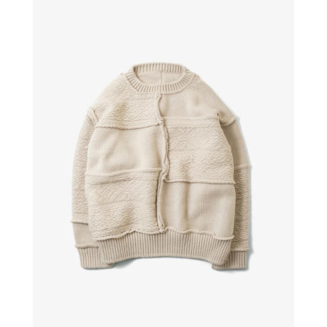 Name. : PATCHWORK KNIT SWEATER