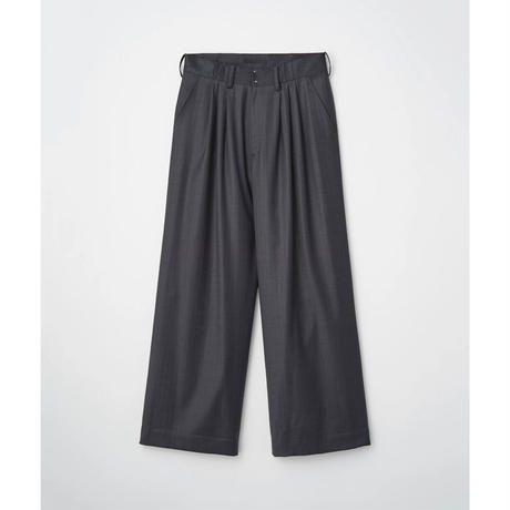JUHA:SHADOW STRIPE WIDE PANTS