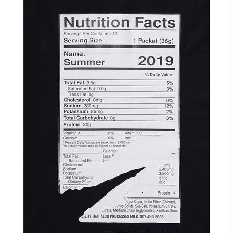 "Name. : HALF SLEEVE PRINT TEE ""Nutrition Facts"""