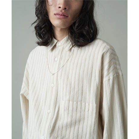 JUHA : LENO CLOTH STRIPE OVER SHIRT