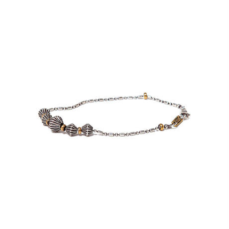 hobo :925 SILVER BEADS BRACELET with BRASS TAG
