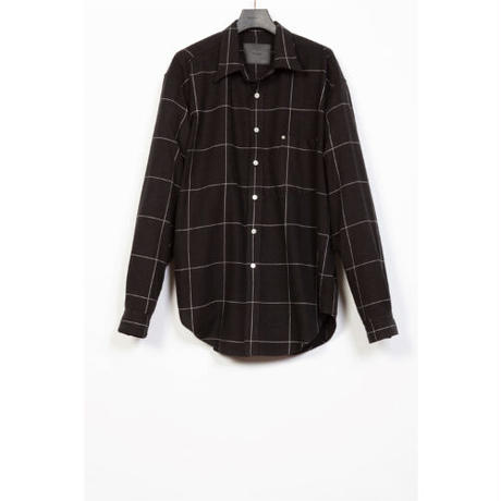 The Letters : STANDARD SHIRT - WINDOW PEN CHECK FLANNEL -