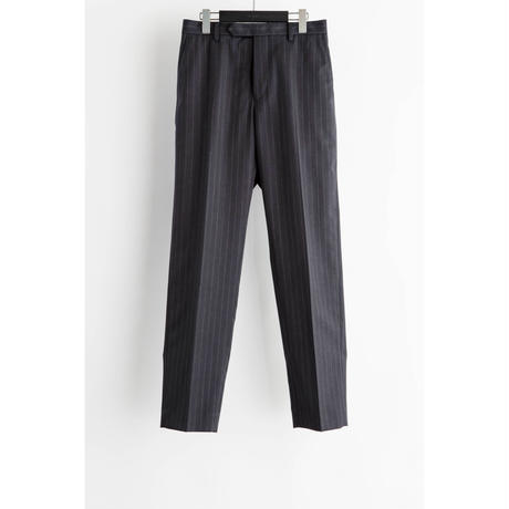 The Letters : CLASSICAL REGULAR TROUSERS - ALTERNATE STRIPE SERGE WOOL -