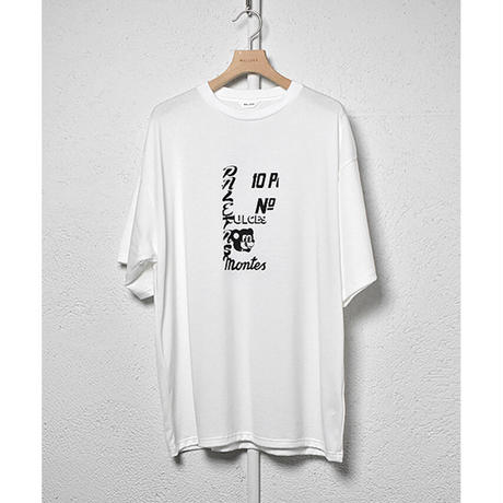 "WELLDER : Crew Neck T-shirt ""wall"""