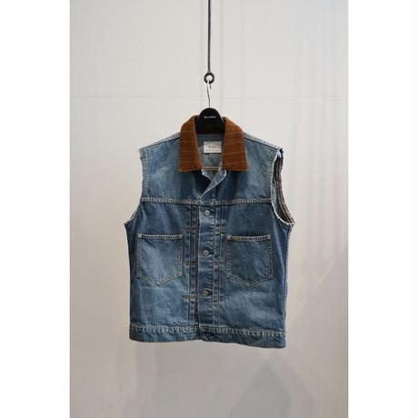 The Letters : Cut Off Denim Jacket