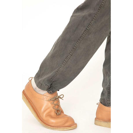 hobo : ARTISAN EASY PANTS COTTON TWILL CHARCOAL DYED