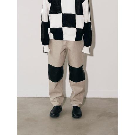 JOHN MASON SMITH : BAGGY TAPERD 5 POCKET PANTS
