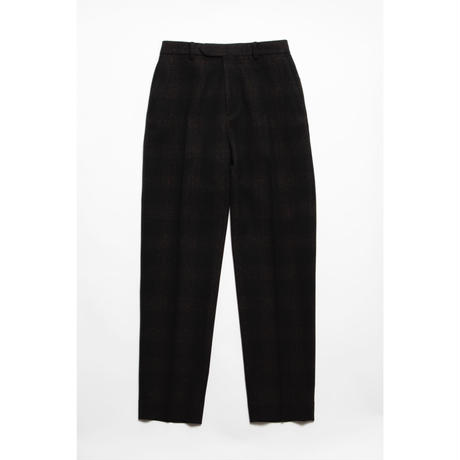 The Letters : WESTERN SLIM TROUSERS - OMBRE CHECK TWEED  WOOL -