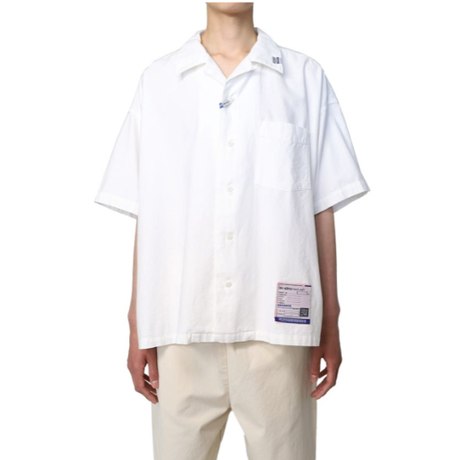in・stru(men-tal). MIHARA YASUHIRO:Short-Sleeve Oxford Shirt