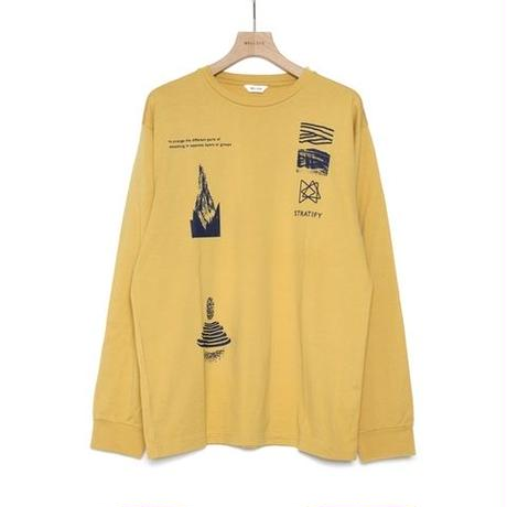 WELLDER : Regular Fit Sleeve T-shirts  STRATIFY Concept Print