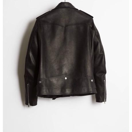 The Letters : MOTORCYCLE LEATHER JACKET - CALF SKIN -