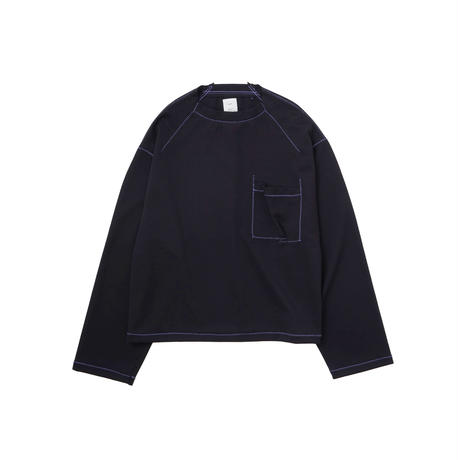 Name. : CONTRAST STITCHED L/S TEE