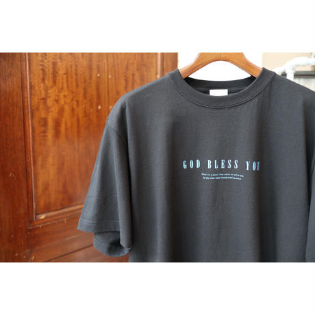 "S.i.m : Rose Blue ""GOD BLESS YOU"" Pullover Tee"
