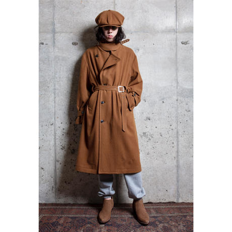 The Letters : OVERSIZED TRENCH COAT - SHRINKED WOOL -