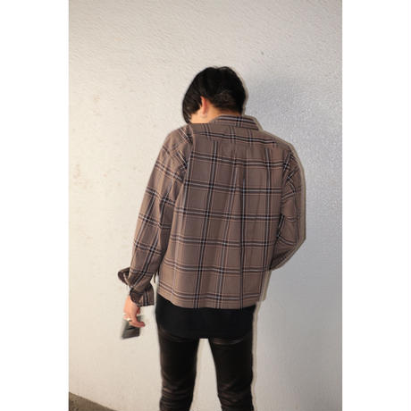 JUHA×BIRTHDAY EXCLUSIVE ITEM : CROP CHECK SHIRT