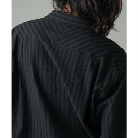JUHA : LENO CLOTH STRIPE S/S SHIRT