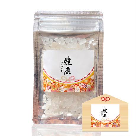 【ハッピーバスソルト】健康(ヒノキ香り)縁起物バスソルト 大事な方の健康を願って。