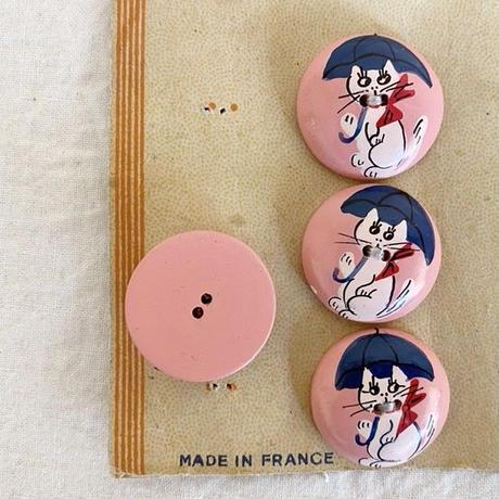 ボタン57・木のボタン(ネコ)