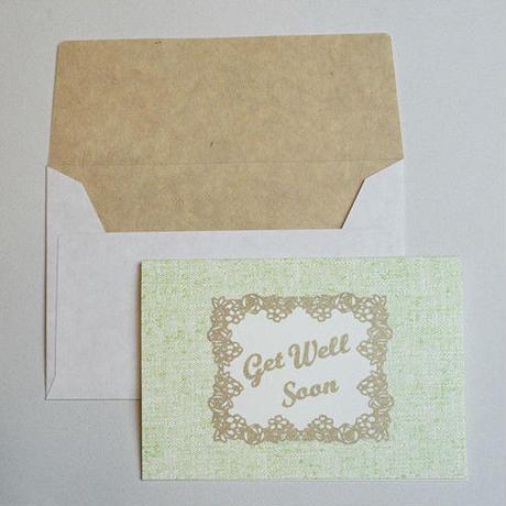 ミニグリーティングカード(封筒付き)・お見舞い(早く良くなってください)