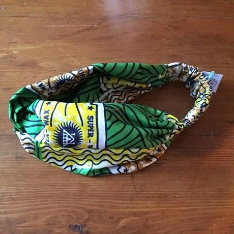 アフリカンプリントヘアバンド19・毛糸