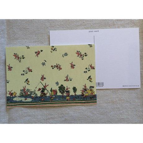 オリジナルポストカード・うさぎファミリー・2枚