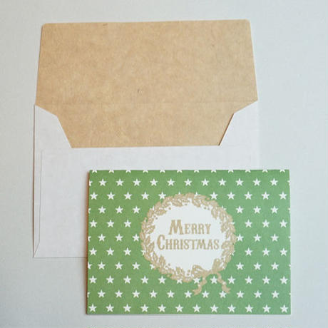 ミニグリーティングカード(封筒付き)・クリスマス