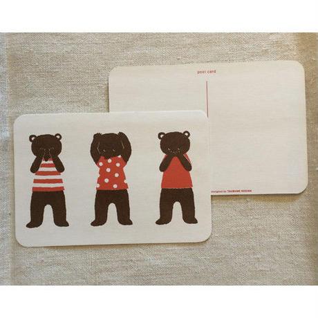 オリジナルポストカード・3匹のクマ茶・2枚