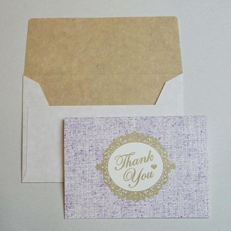 ミニグリーティングカード(封筒付き)・ありがとう
