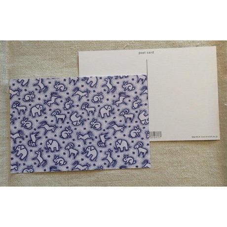 オリジナルポストカード・どうぶつブルー・2枚