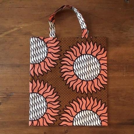 アフリカンプリントバッグS 17・ひまわりオレンジ
