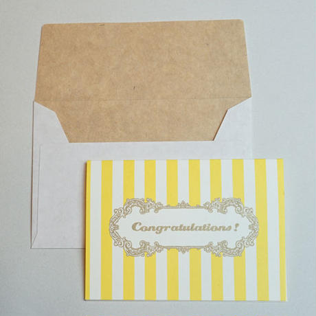ミニグリーティングカード(封筒付き)・おめでとう