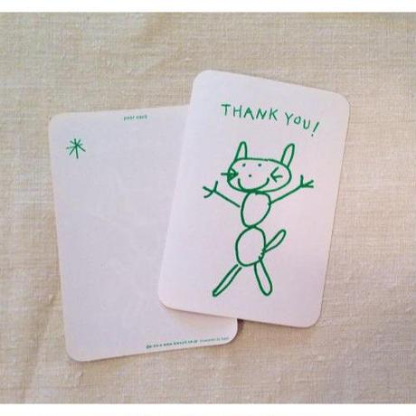 オリジナルポストカード・UGネコグリーン2枚