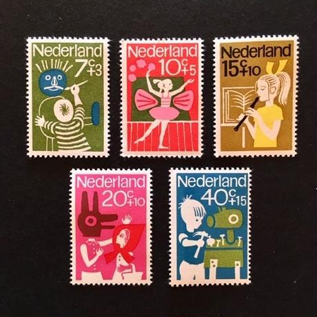 オランダの児童福祉切手'64