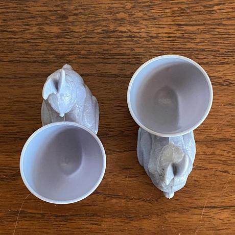 ウサギのエッグカップ(ブルー)