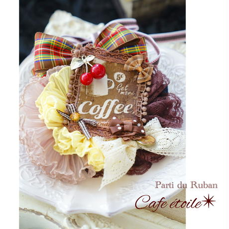 Cafe étoile Yellow チョーカー&ヘアクリップ