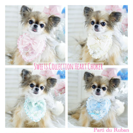 sweets collection heart choker Blue