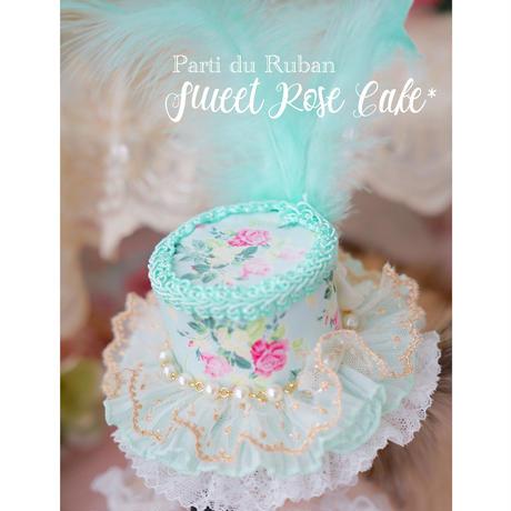 Sweet Rose cake Hat&choker rosette 3点セット