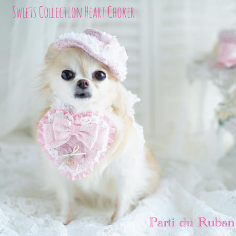 sweets collection heart choker Pink
