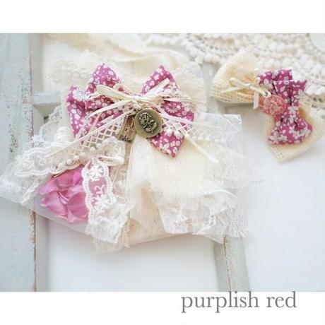 Autumn Letter -purplish red-チョーカーヘアクリップ