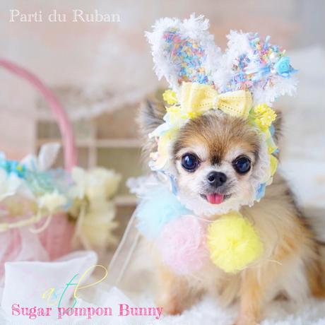 Sugar pompon Bunny pastel カチューシャ&ポンポンチョーカー