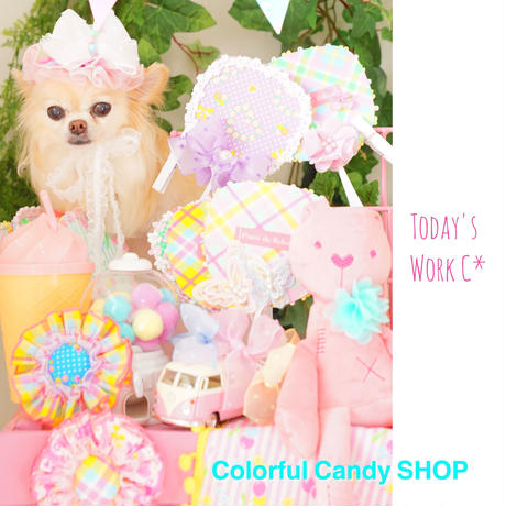 Colorful Candy Summer Check お帽子&チョーカー