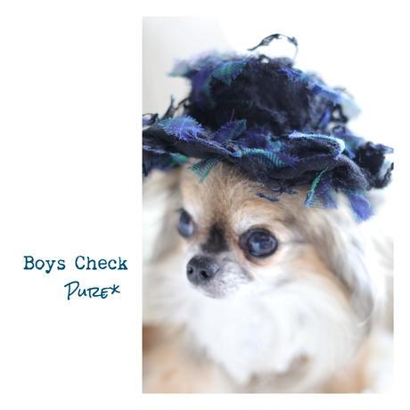 やんちゃなお帽子...BLUE Check