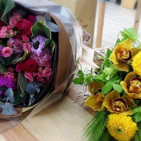 季節の花束定期便(毎月お届けコース)(1ヶ月1回)