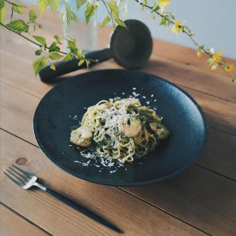 海老と季節野菜のジェノベーゼ(2人分)